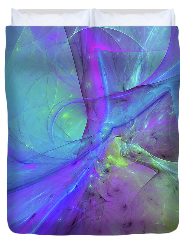 False Dimension Of Heaven Duvet Cover featuring the digital art False Dimension Of Heaven by Georgiana Romanovna