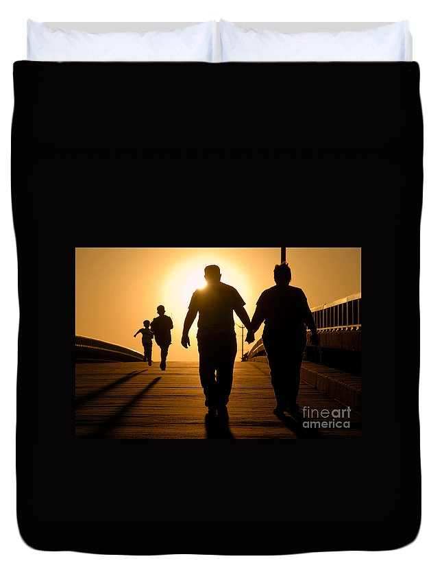 Family Duvet Cover featuring the photograph Family by David Lee Thompson