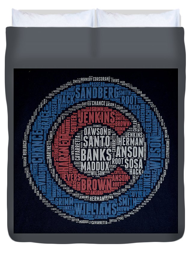 Chicago Cubs Duvet Cover featuring the photograph Famous Chicago Cubs by Greg Thiemeyer
