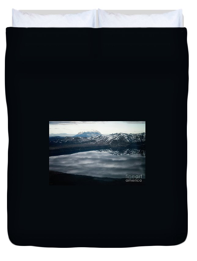 Askja Duvet Cover featuring the photograph Famous Mountain Askja In Iceland by Patricia Hofmeester