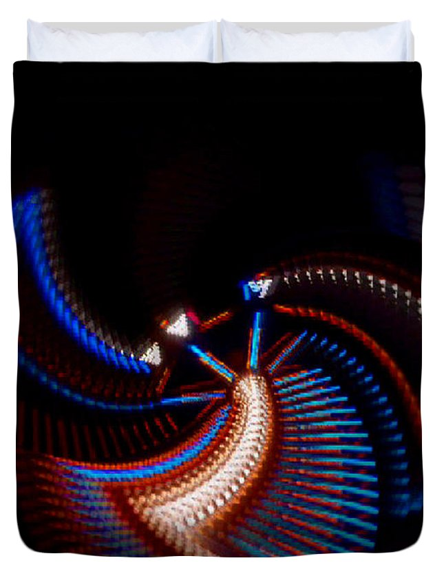 Chaos Duvet Cover featuring the photograph Fan Dance by Charles Stuart