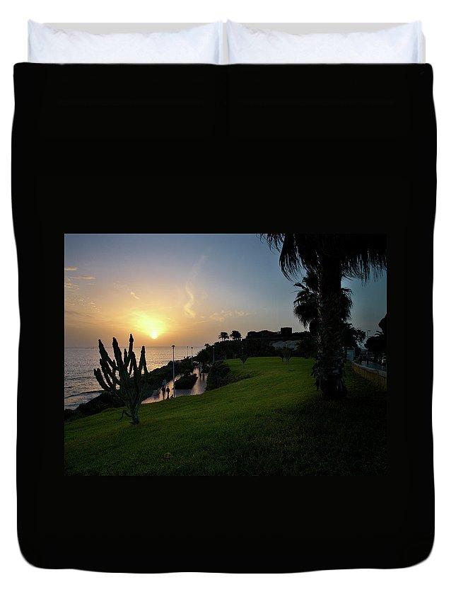 Fanabe Duvet Cover featuring the photograph Fanabe Evening 1 by Jouko Lehto