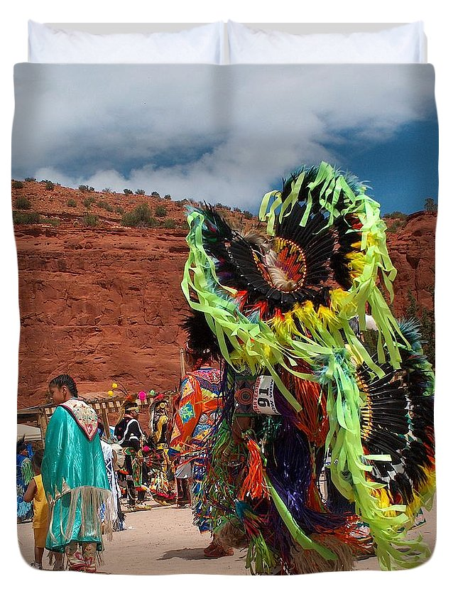 Fancy Dancer Duvet Cover featuring the photograph Fancy Dancer by Tim McCarthy