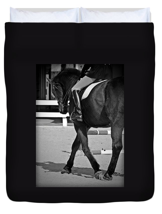 Dressage Duvet Cover featuring the photograph Fancy Feet by Hannah Breidenbach