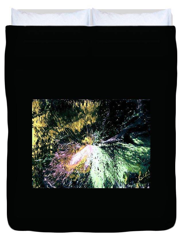 Digital Art Duvet Cover featuring the digital art Fanfare by Kendall Eutemey