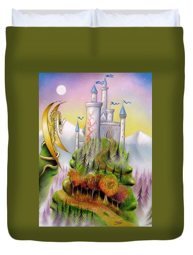 Fantasy Duvet Cover featuring the mixed media Fantasia by Ilias Patrinos