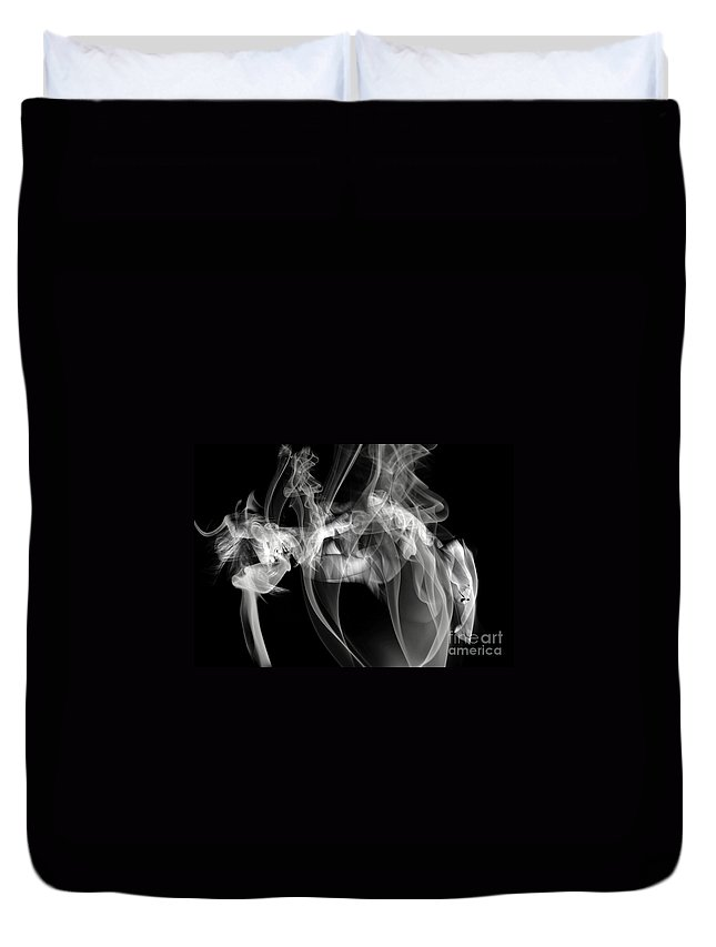 Clay Clayton Bruster Smoke Nude Art Erotic Abstract Beauty Wall Sexy Sensual Duvet Cover featuring the photograph Fantasies In Smoke Iv by Clayton Bruster