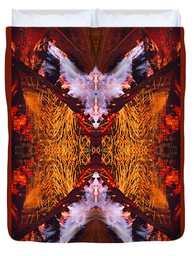 Fantasy Duvet Cover featuring the photograph Fantasy Flight by Roger Turley