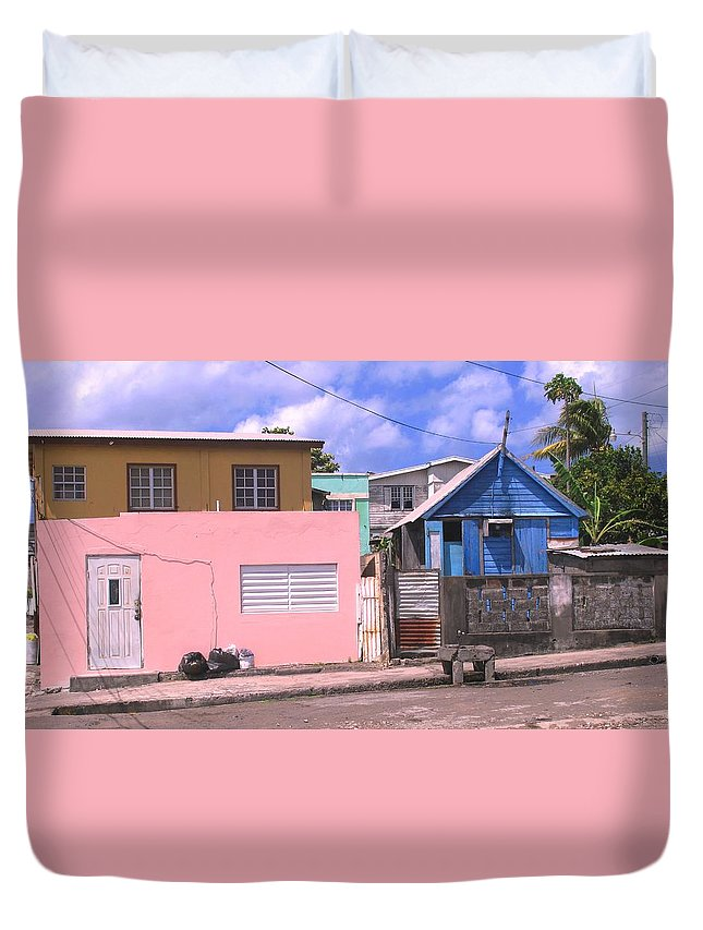 Basseterre Duvet Cover featuring the photograph Far From Dull by Ian MacDonald