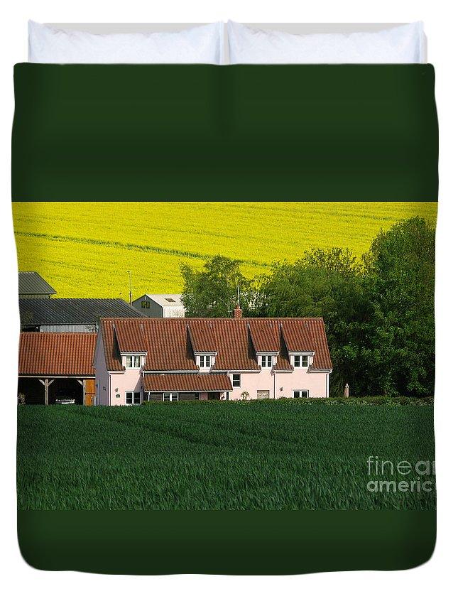 Farm Duvet Cover featuring the photograph Farm Fields by Ann Horn
