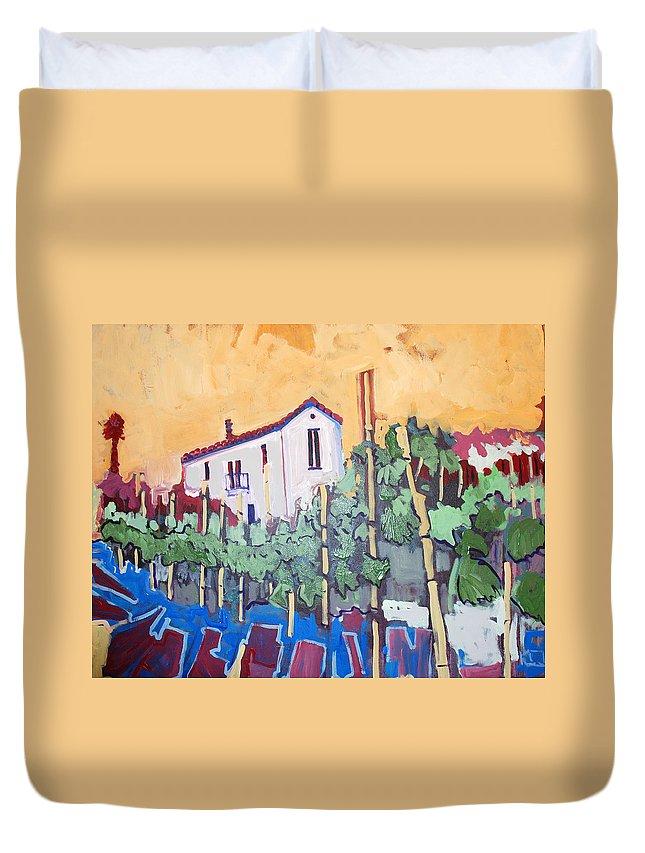 Farm House Duvet Cover featuring the painting Farm House by Kurt Hausmann