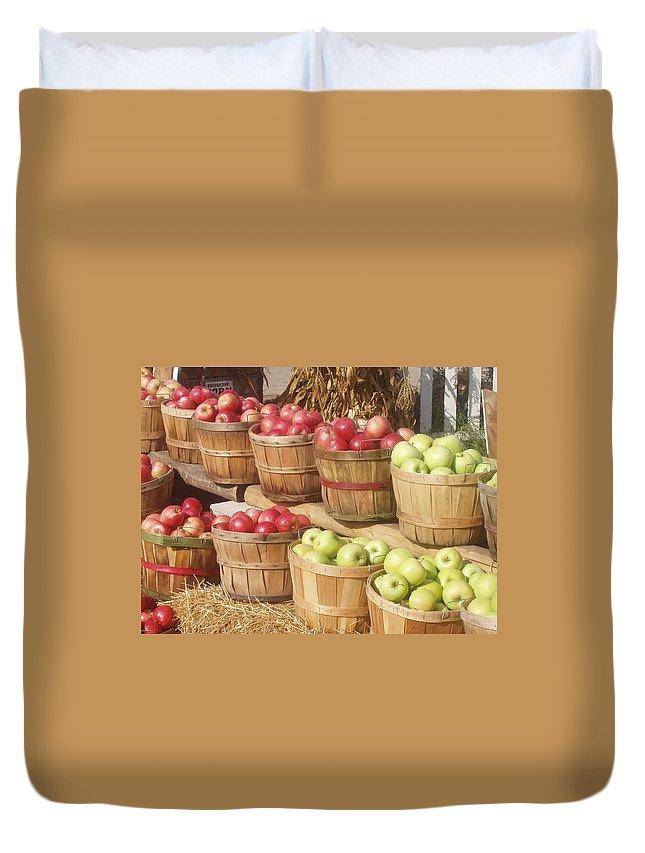 Farmers Market Duvet Cover featuring the photograph Farmer's Market Apples by Wayne Potrafka
