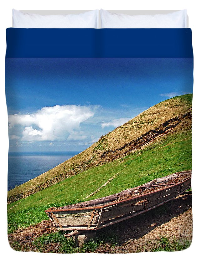 Europe Duvet Cover featuring the photograph Farming In Azores Islands by Gaspar Avila