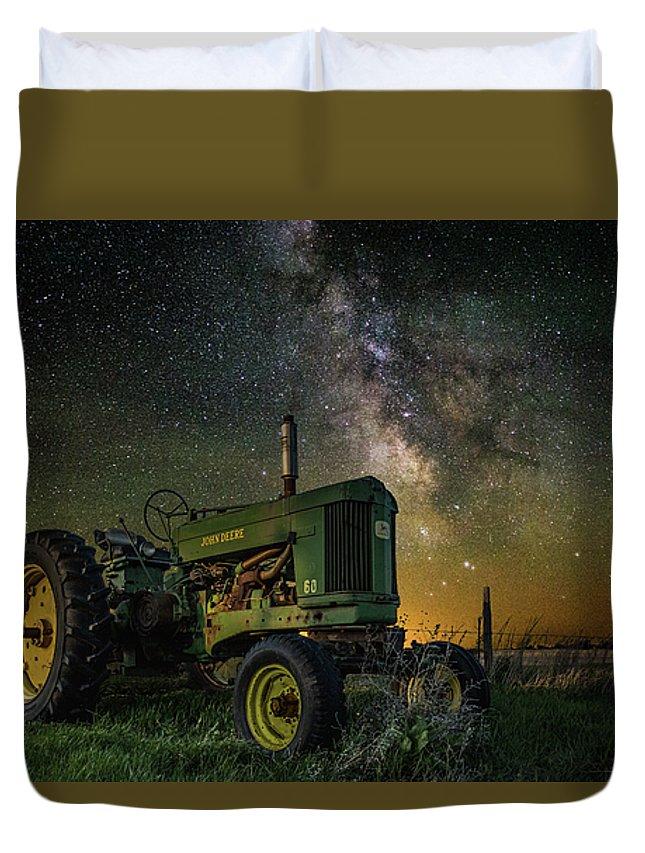 Air Glow Duvet Cover featuring the photograph Farming The Rift 3 by Aaron J Groen