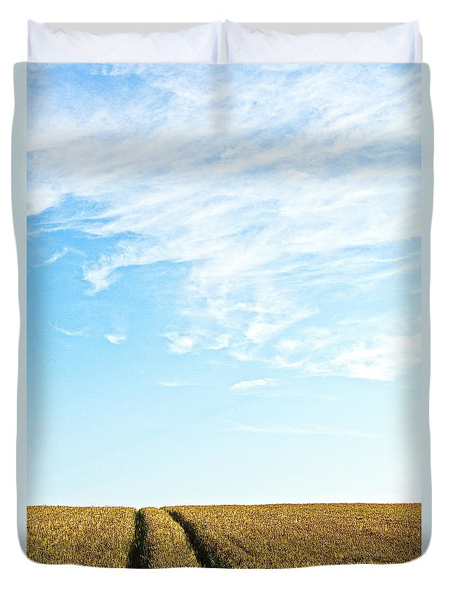Europe Duvet Cover featuring the photograph Farmland To The Horizon 2 by Heiko Koehrer-Wagner