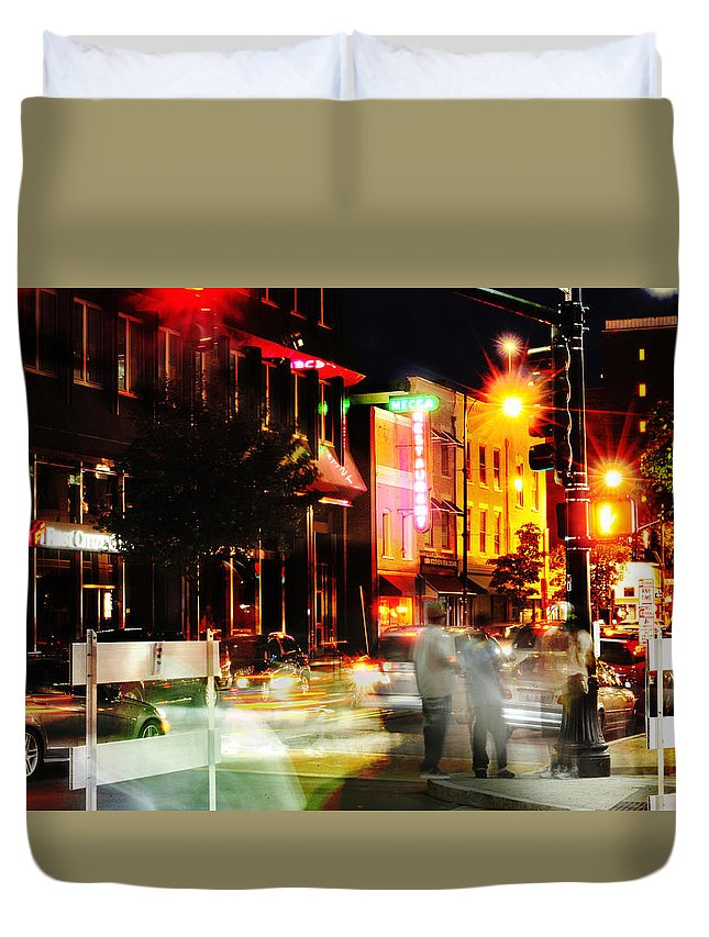 Night Duvet Cover featuring the photograph Fast Times by Dennis Ludlow