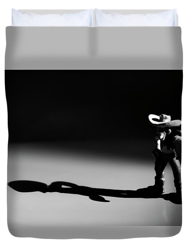 Lucky Luke Duvet Cover featuring the photograph Faster As His Shadow by Ronald Van Grinsven