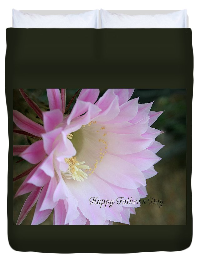 Bloom Duvet Cover featuring the photograph Fathers Day Cactus by Marna Edwards Flavell