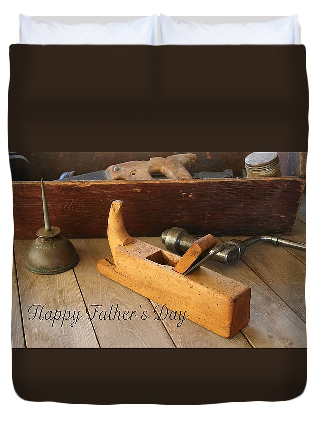 Tool Duvet Cover featuring the photograph Fathers Day Tools by Marna Edwards Flavell