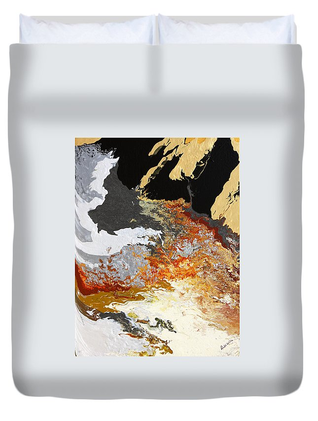 Fusionart Duvet Cover featuring the painting Fathom by Ralph White