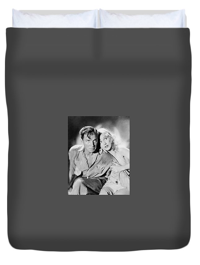 Hollywood Stars Celebrity Duvet Cover featuring the photograph Fay Wray King Kong 1933 by Peter Nowell