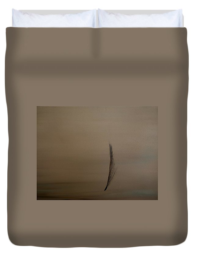 Feather Duvet Cover featuring the painting Feather by Jack Diamond