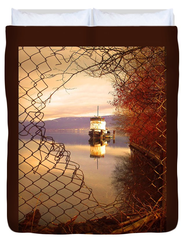 Boat Duvet Cover featuring the photograph February 13 2010 by Tara Turner