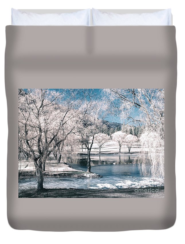 Trees Duvet Cover featuring the photograph February 22 2010 by Tara Turner