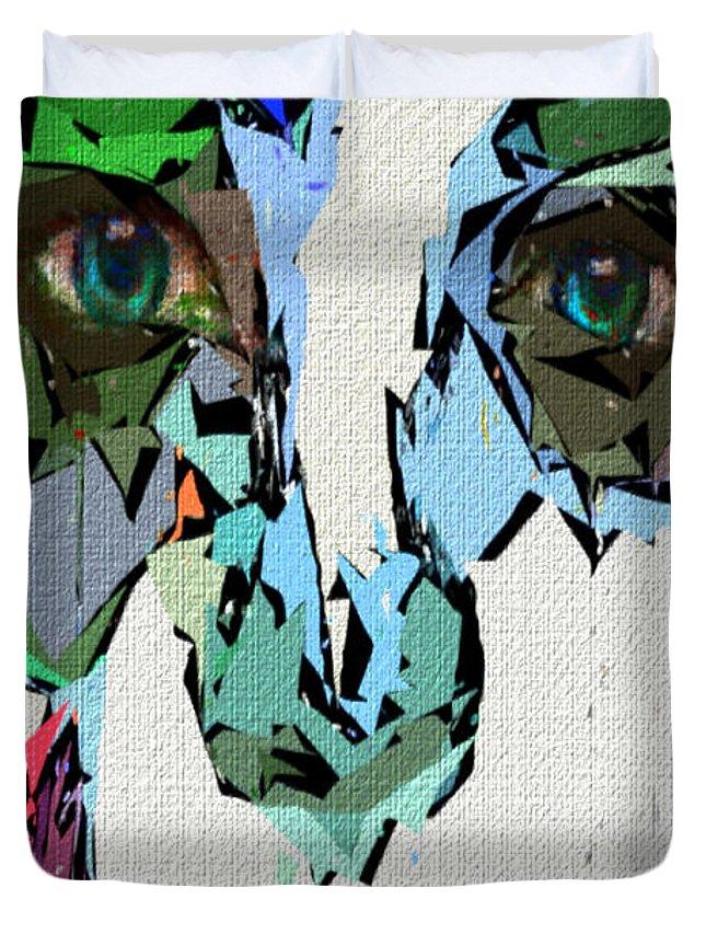 Female Duvet Cover featuring the digital art Female Expressions Xvii by Rafael Salazar