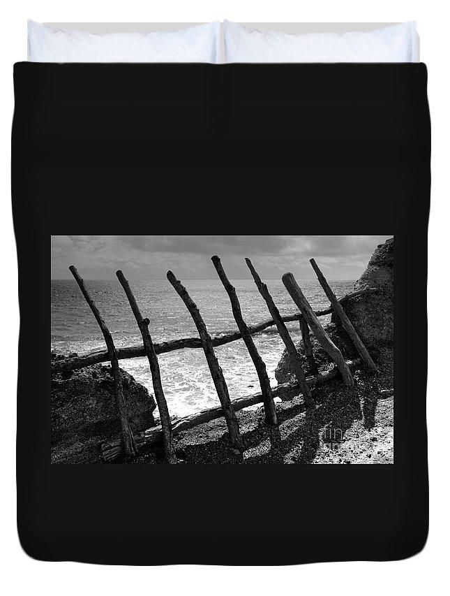 Atlantic Ocean Duvet Cover featuring the photograph Fence by Gaspar Avila