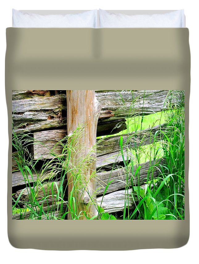 Fence Duvet Cover featuring the photograph Fence by Ian MacDonald