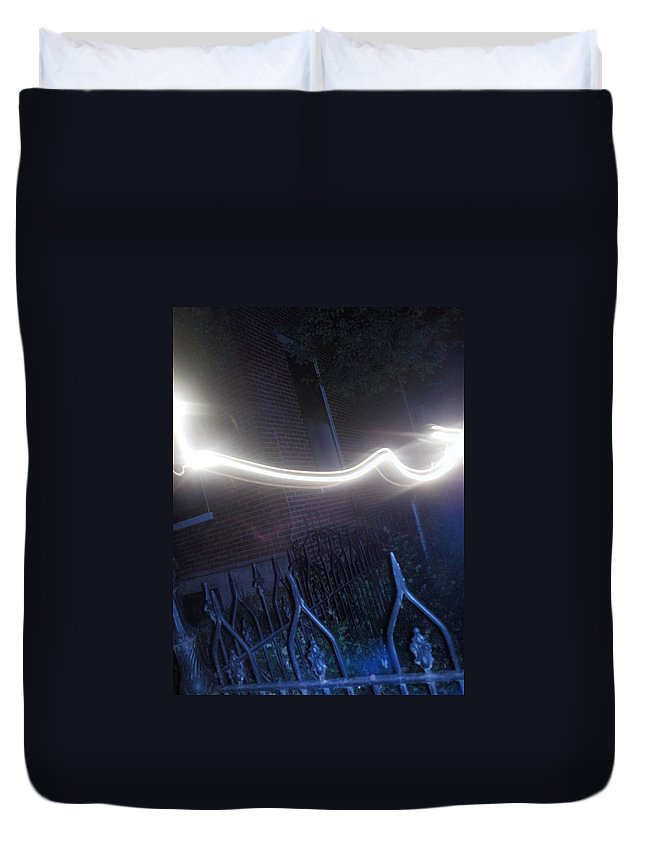 Photograph Duvet Cover featuring the photograph Fence by Thomas Valentine