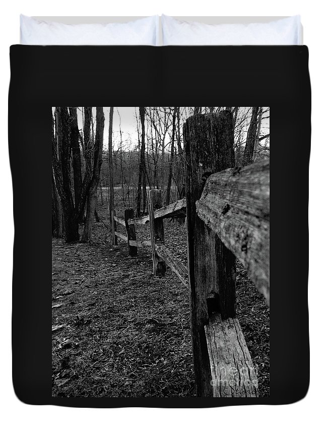 Kensington Duvet Cover featuring the photograph Fence To Nowhere by September Stone