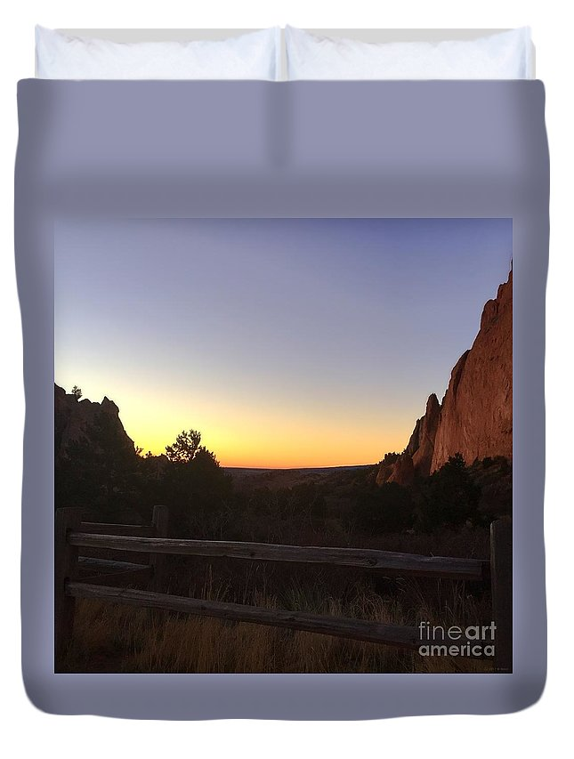 Garden Of The Gods Duvet Cover featuring the photograph Garden Sunrise by M Welch
