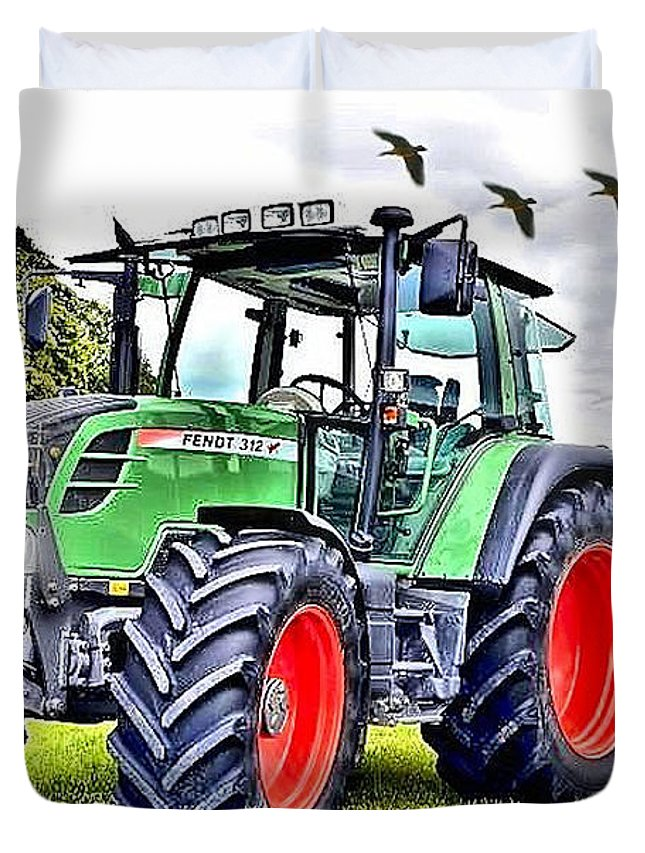 Fendt 312 Vario Tractor Duvet Cover for Sale by Thomas Schmidt
