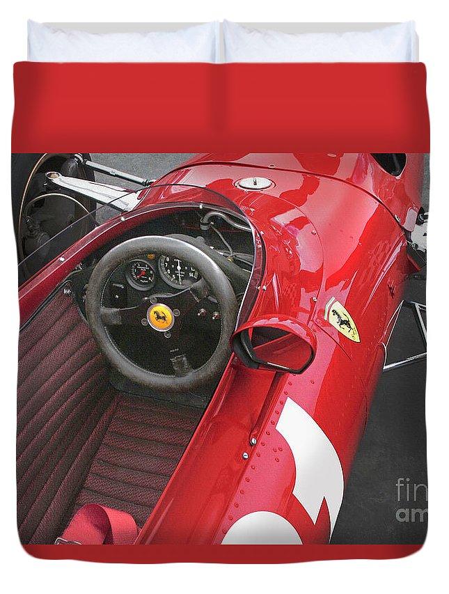 Ferrari Duvet Cover featuring the photograph Ferrari 312 F-1 1967 by Curt Johnson