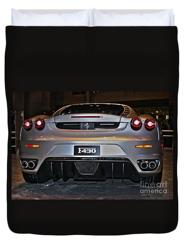 Car Duvet Cover featuring the photograph Ferrari F430 No 1 by Alan Look
