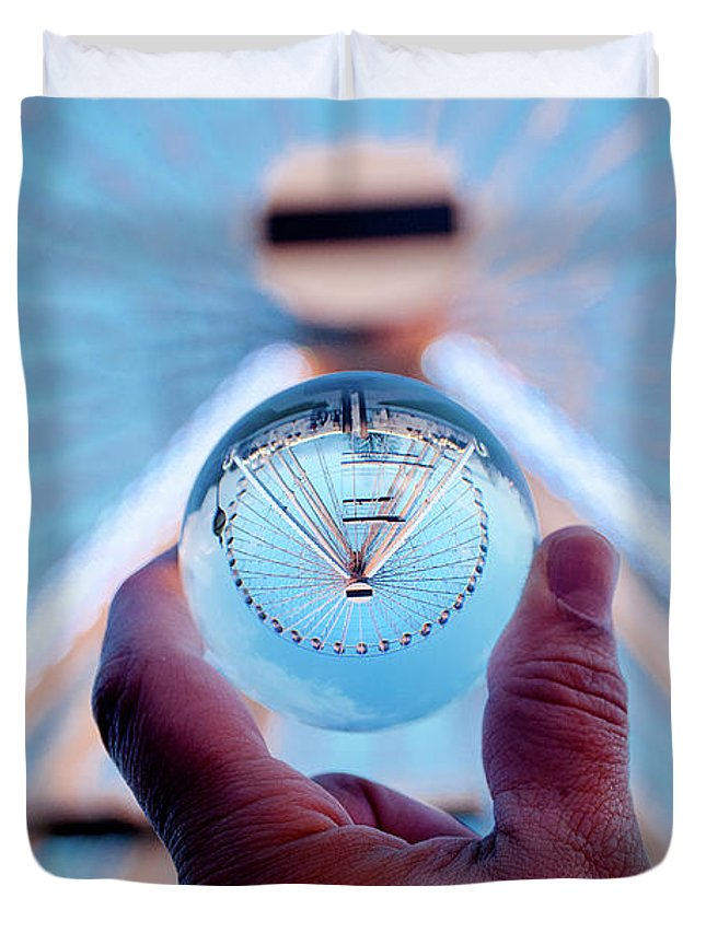 England Duvet Cover featuring the photograph Ferris Wheel by Greg Fortier