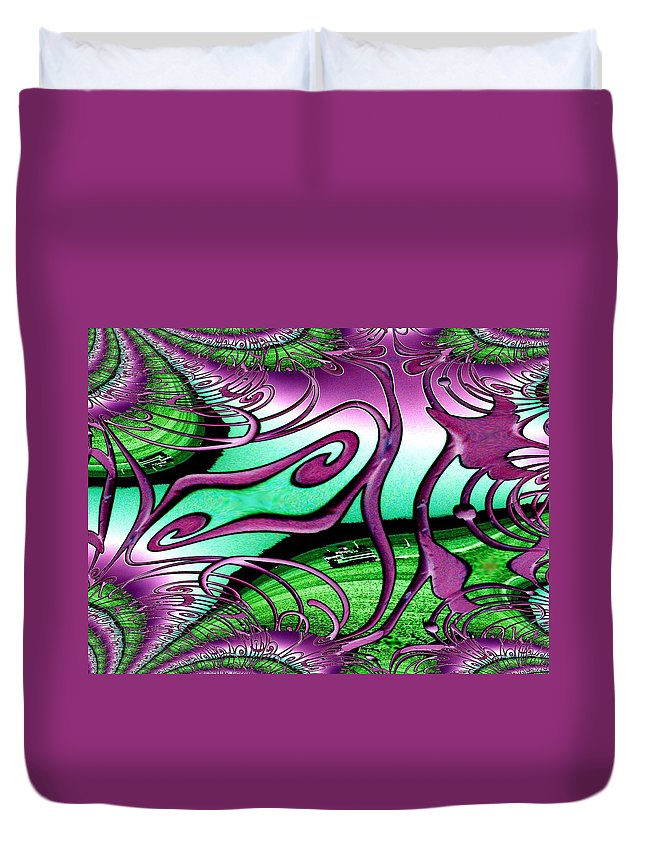 Seattle Duvet Cover featuring the digital art Ferry On Elliott Bay 2 by Tim Allen