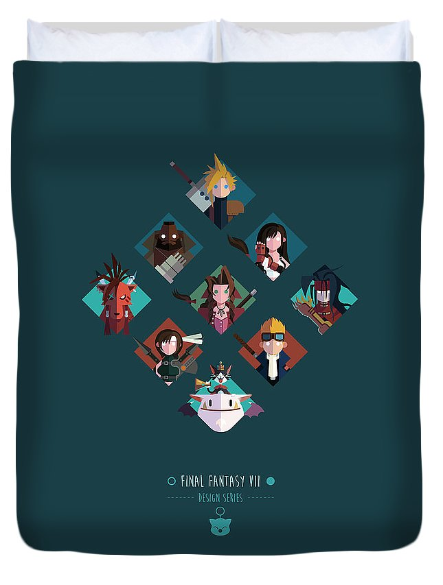 Final Fantasy Duvet Cover featuring the digital art FF Design Series by Michael Myers