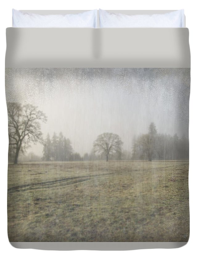 Oak Field Duvet Cover featuring the photograph Field Of Dreams by Nichon Thorstrom