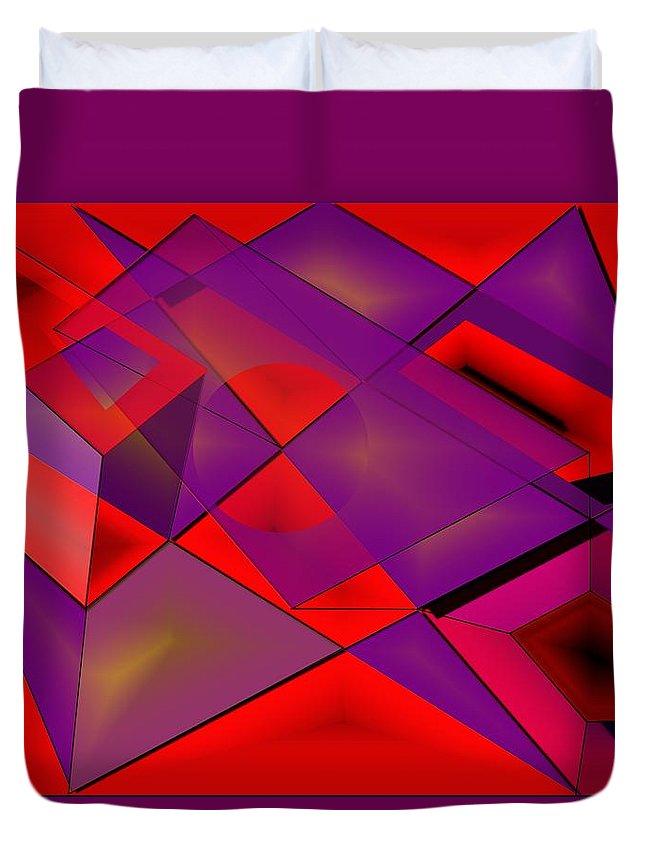 Fields Duvet Cover featuring the digital art Fieldexperiments by Helmut Rottler
