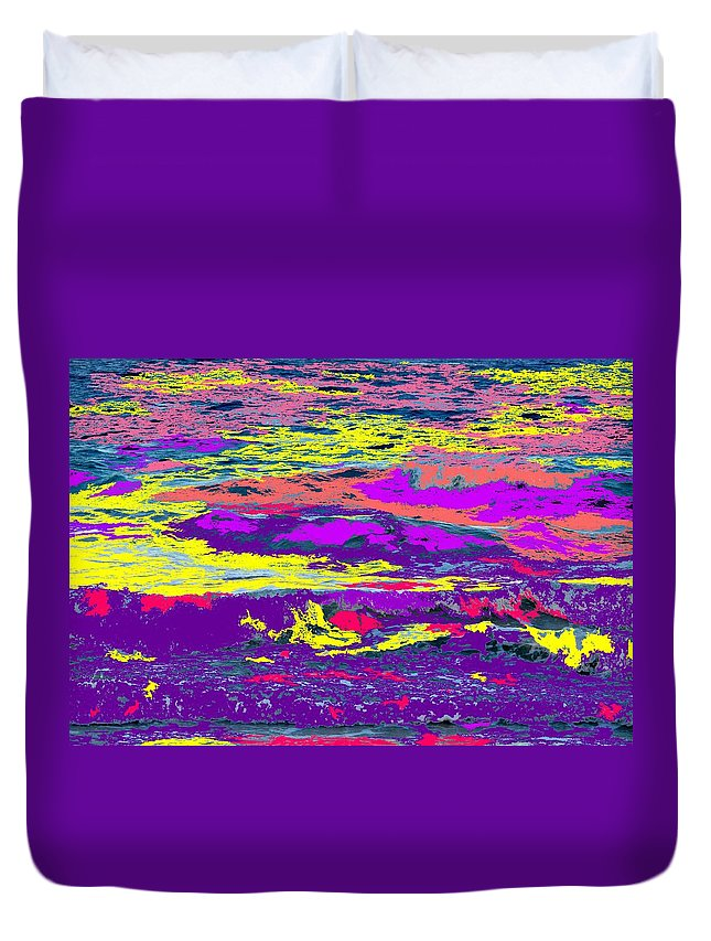Ocean Duvet Cover featuring the photograph Fiery Passion by Ian MacDonald