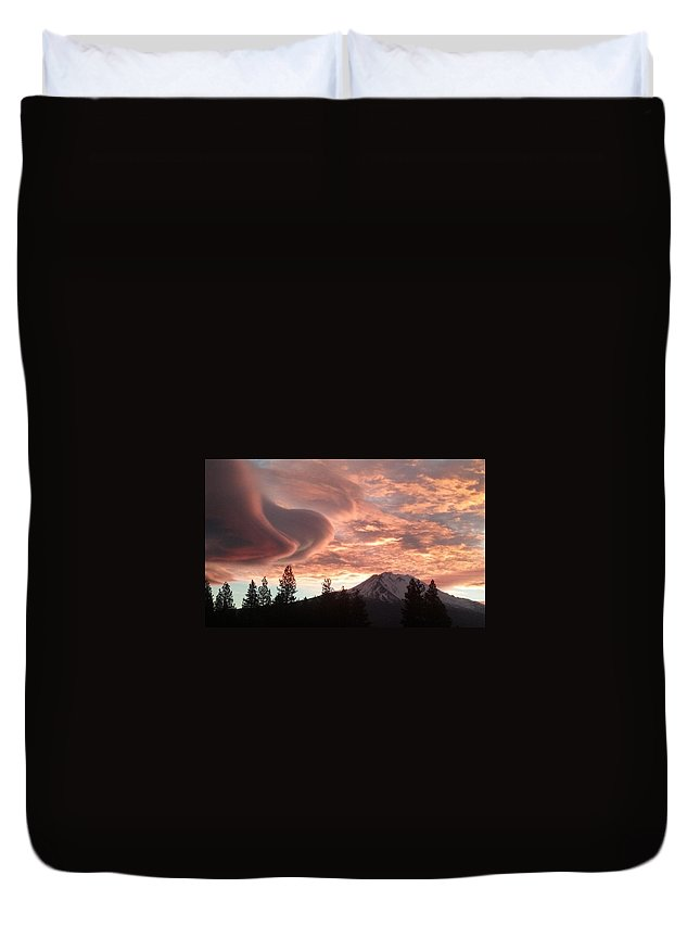 Nature Duvet Cover featuring the photograph Fiery Sky by Cynthea Greb