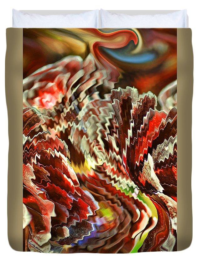 Motion Duvet Cover featuring the digital art Fiesta V by Jim Fitzpatrick