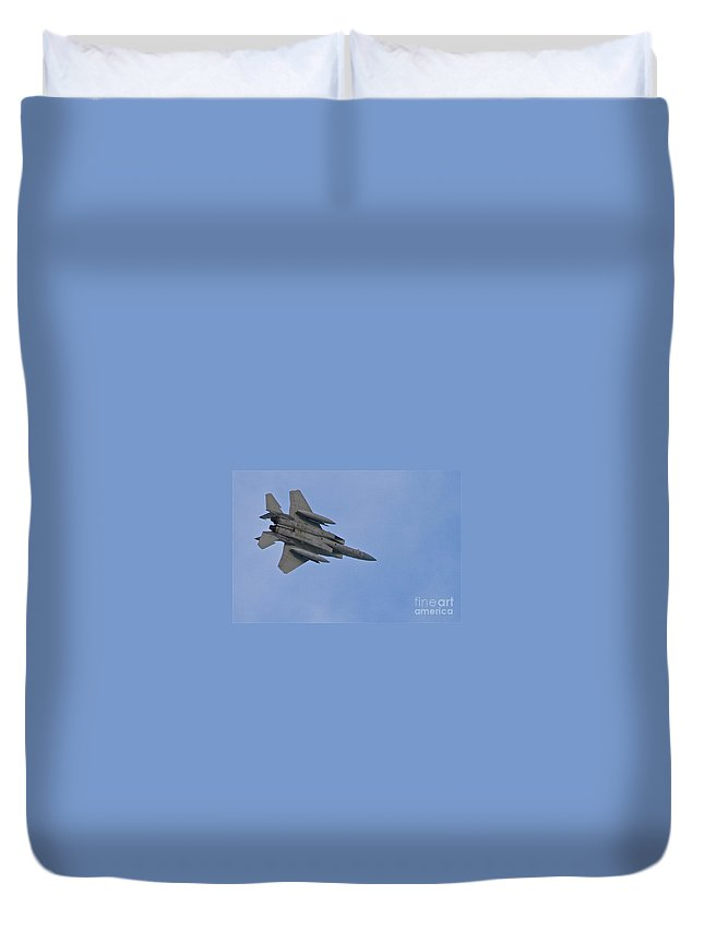 Jet Duvet Cover featuring the photograph Fighter by Rick Monyahan