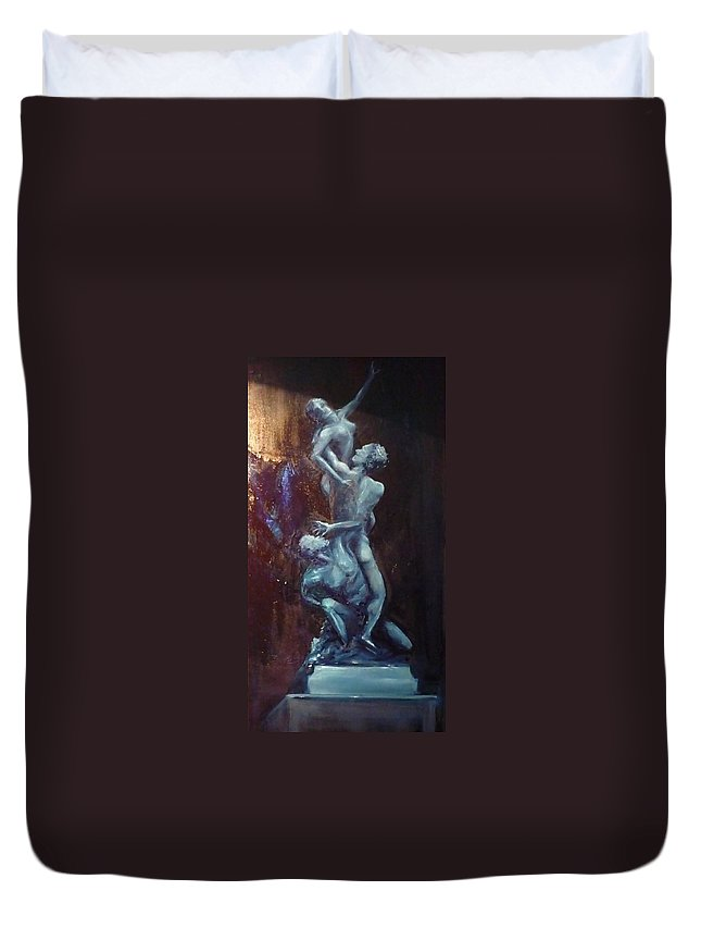 Classics Duvet Cover featuring the painting Figurative IIi by Lizzy Forrester