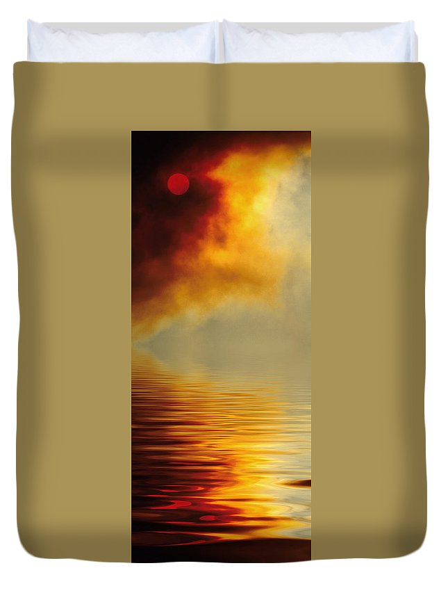 Sun Duvet Cover featuring the photograph Filtered Sun by Jerry McElroy