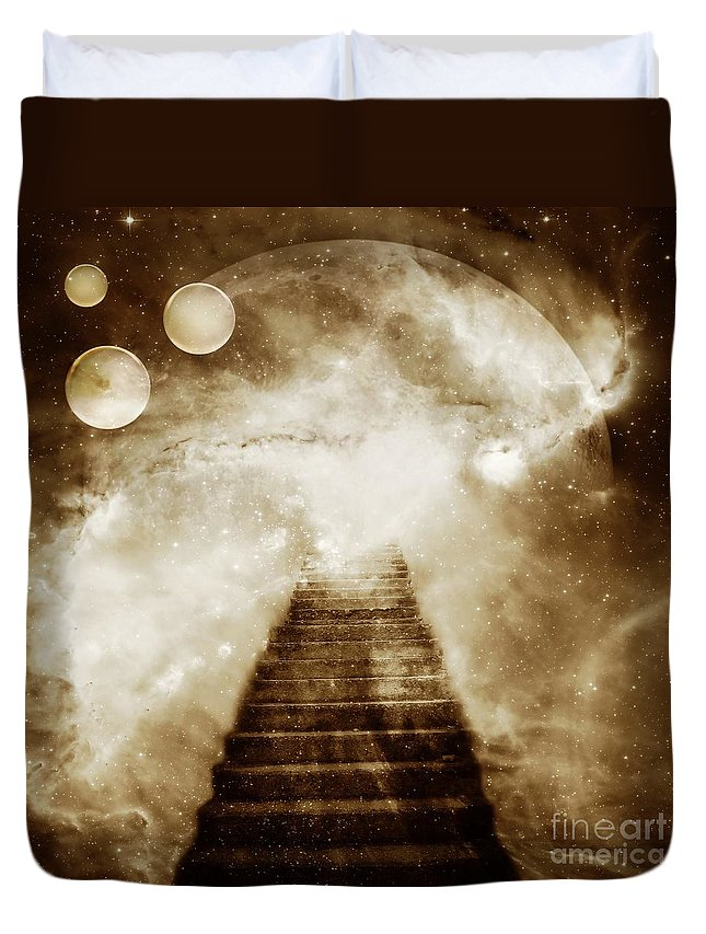 Fantasy Duvet Cover featuring the photograph Final Destination by Jacky Gerritsen