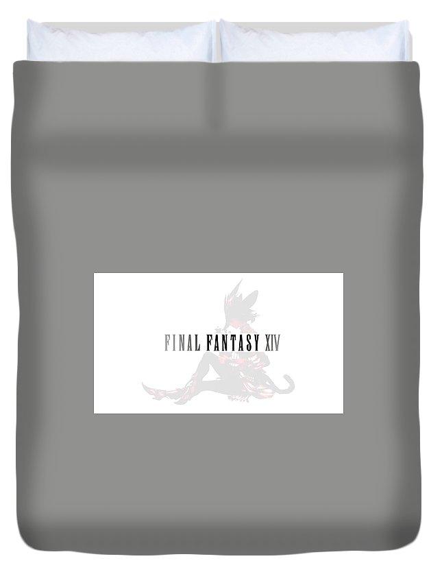 Final Fantasy Xiv Duvet Cover featuring the digital art Final Fantasy Xiv by Bert Mailer
